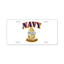 NAVY - CPO - Retired Aluminum License Plate