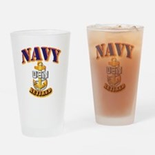 NAVY - CPO - Retired Drinking Glass