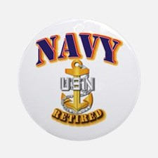 NAVY - CPO - Retired Ornament (Round)