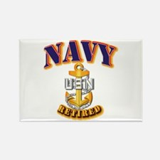 NAVY - CPO - Retired Rectangle Magnet