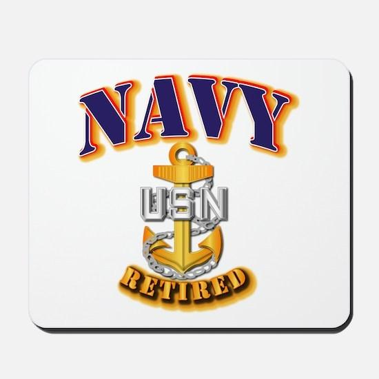 NAVY - CPO - Retired Mousepad