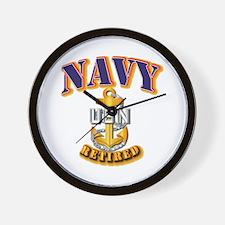 NAVY - CPO - Retired Wall Clock