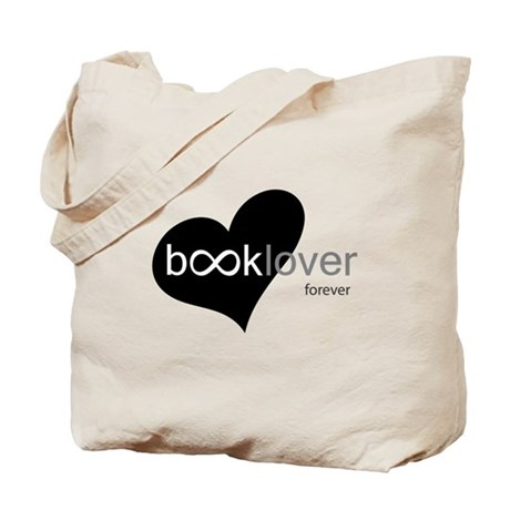 Book Lover Forever - b/w Tote Bag