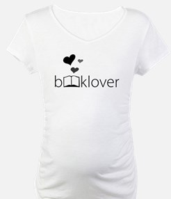 Book Lover - floating hearts - b/w Shirt