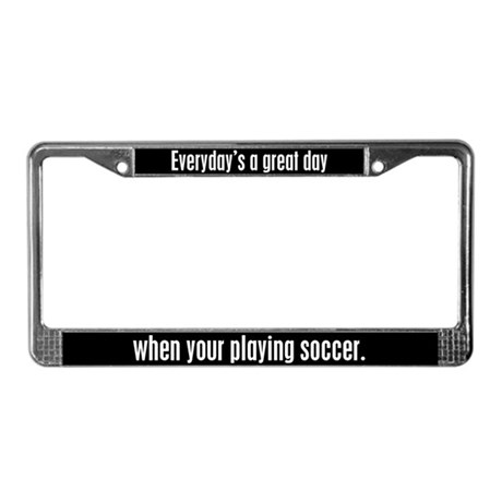 Soccer License Plate Frame