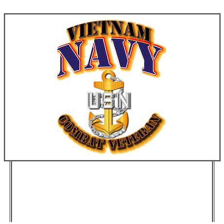 NAVY - CPO - VN - CBT VET Yard Sign
