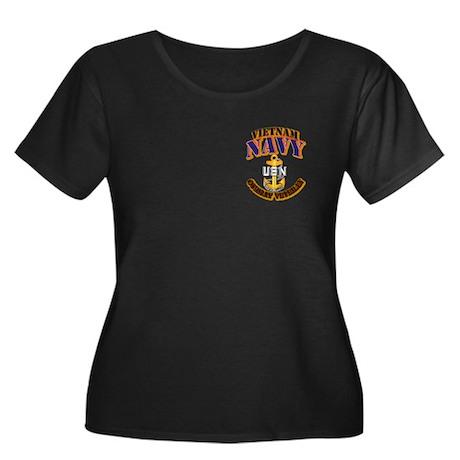 NAVY - CPO - VN - CBT VET Women's Plus Size Scoop