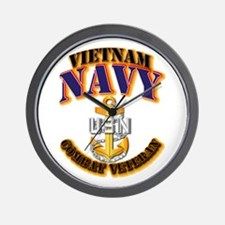 NAVY - CPO - VN - CBT VET Wall Clock