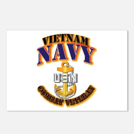 NAVY - CPO - VN - CBT VET Postcards (Package of 8)