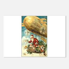Santa's Christmas Airship - Vintage Postcards (Pac