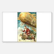 Santa's Christmas Airship - Vintage Decal