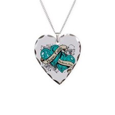 Cervical Cancer Hope Dual Heart Necklace Heart Cha