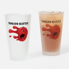 Cute Food fight Drinking Glass