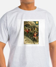 Santa's Victorian Christmas Train T-Shirt