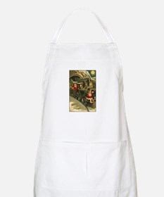 Santa's Victorian Christmas Train BBQ Apron