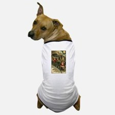 Santa's Victorian Christmas Train Dog T-Shirt