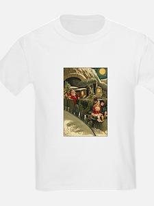 Santa's Victorian Christmas Train T-Shirt