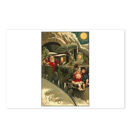 Santa's Victorian Christmas Train Postcards (Packa