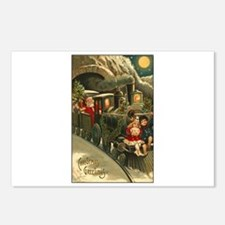 Santa's Victorian Christmas Train Postcards (Packa
