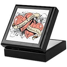 Endometrial Cancer Hope Dual Heart Keepsake Box
