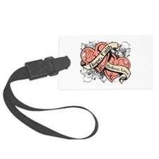Endometrial Cancer Hope Dual Heart Luggage Tag