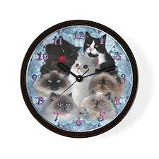 Himalayan and Persian Cats Wall Clock