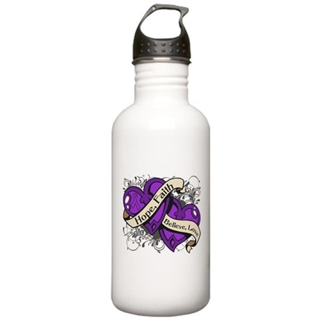 Epilepsy Hope Dual Heart Stainless Water Bottle 1.
