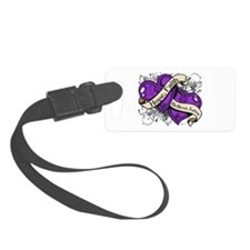 Epilepsy Hope Dual Heart Luggage Tag
