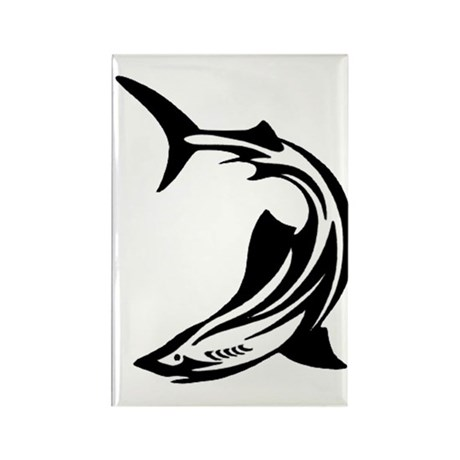 Trible Shark Rectangle Magnet (100 pack)