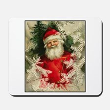 Jolly Victorian Santa Claus - Christmas Mousepad