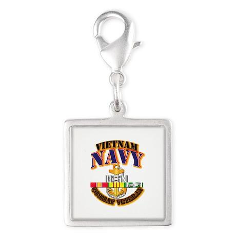 NAVY - CPO w VN SVC Silver Square Charm