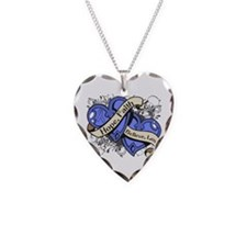 Esophageal Cancer Hope Dual Heart Necklace