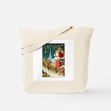 Santa Down the Chimney Tote Bag