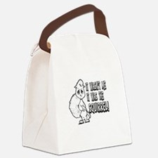 IT WASNT ME IT WAS THE SQUIRREL Canvas Lunch Bag