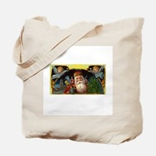 Victorian Christmas - Santa Claus with Angels Tote