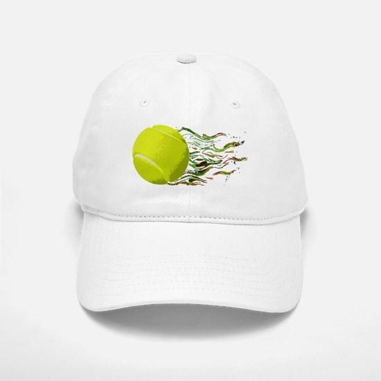 Tennis Ball Flames Artistic US Open Wimbleton Base