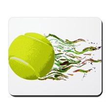 Tennis Ball Flames Artistic US Open Wimbleton Mous