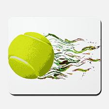 Tennis Ball Flames Artistic US Open Wimbleton Mous