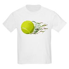 Tennis Ball Flames Artistic US Open Wimbleton T-Sh