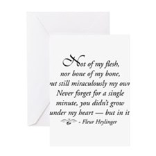 Not of my Flesh with angel Greeting Cards
