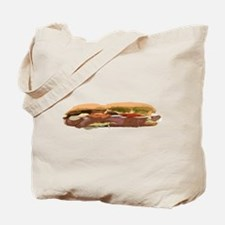 Sandwich Hoagie Baguette Food Meat Subway Sub Tote