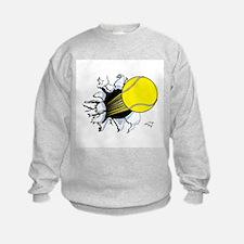 Tennis Ball Ripping Through Sweatshirt