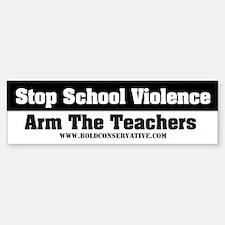 'Stop School Violence... Bumper Bumper Bumper Sticker