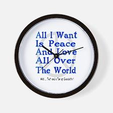 Peace, Love & Chocolate Wall Clock