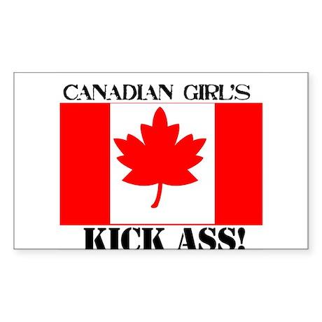 canadian girls Rectangle Sticker