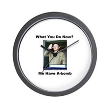 Kim Jung Il - What You Do Now? Wall Clock