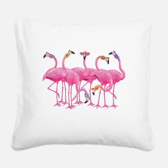 Unique Birds Square Canvas Pillow