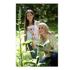 Young mother with nature  Postcards (Package of 8)
