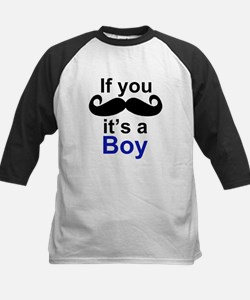 If you moustache its a boy Baseball Jersey
