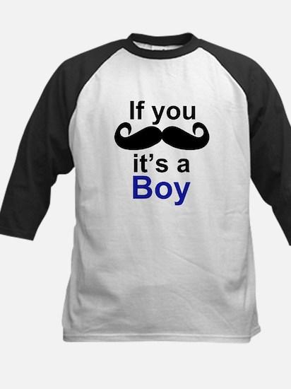 If you moustache its a boy Baseball Jersey